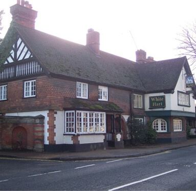 image of the pub White Hart in the village of Brasted, Kent where Direct Timber is based.