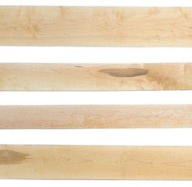 view of different types of American Maple Hardwood Timber grains and colours
