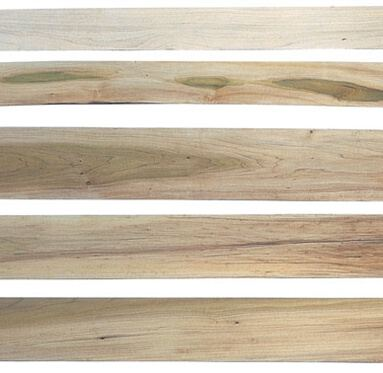 view of several different types of grain's and colours that can be achieved from Tulipwood FSC hardwood.