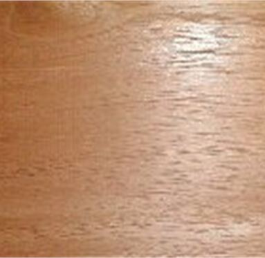 close up view of an African Cedar hardwood grain.