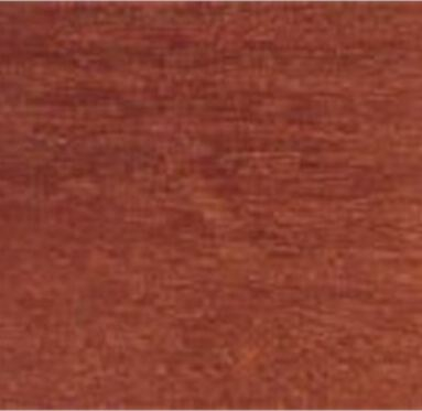 close up view of an African Utile hardwood grain.