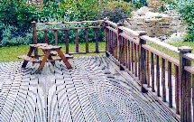 view of a decking that has been created with Direct Timber decking boards.